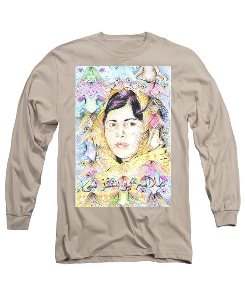 Malala-don't Ignore Us-sombra De Arreguin Long Sleeve T-Shirt