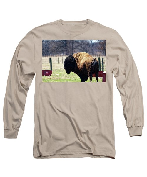 Male Bison Long Sleeve T-Shirt