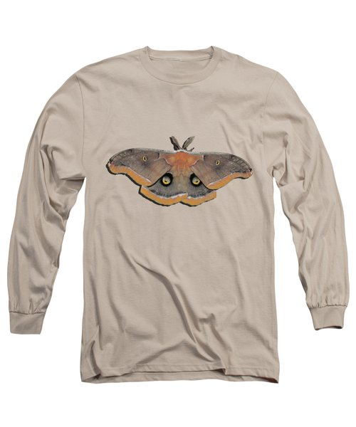 Male Moth Orange And Brown .png Long Sleeve T-Shirt by Al Powell Photography USA