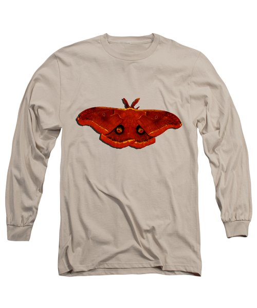 Long Sleeve T-Shirt featuring the photograph Male Moth Red .png by Al Powell Photography USA