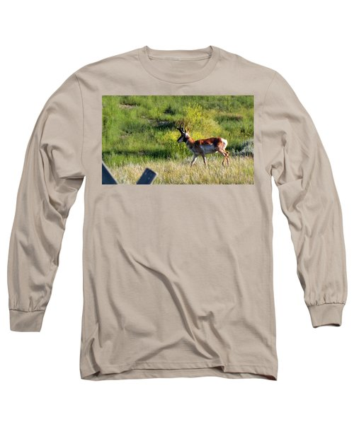 Male Pronghorn Long Sleeve T-Shirt by C Sitton