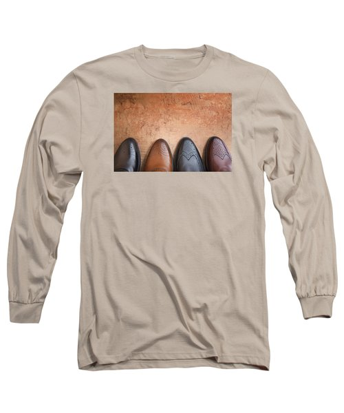 Long Sleeve T-Shirt featuring the photograph Male Shoes by Andrey  Godyaykin