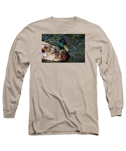 Mallard Portrait Long Sleeve T-Shirt