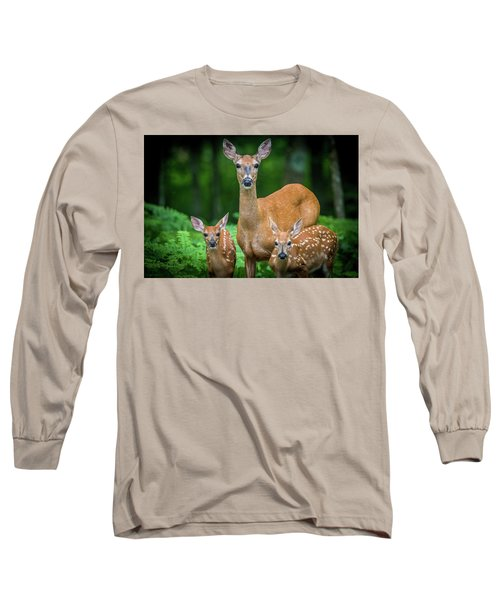 Mama And Fawns Long Sleeve T-Shirt
