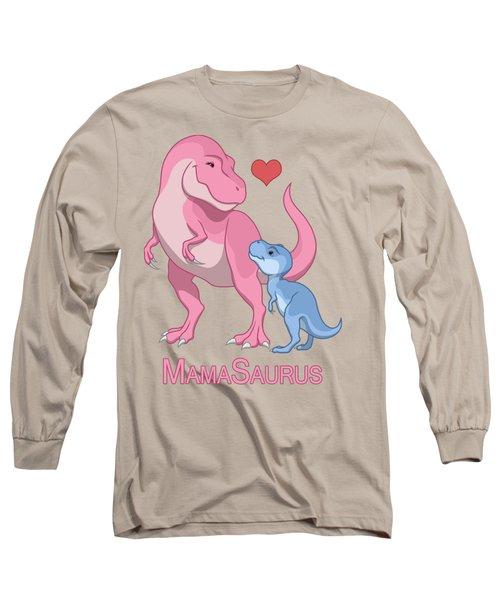Mama Tyrannosaurus Rex Baby Boy Long Sleeve T-Shirt
