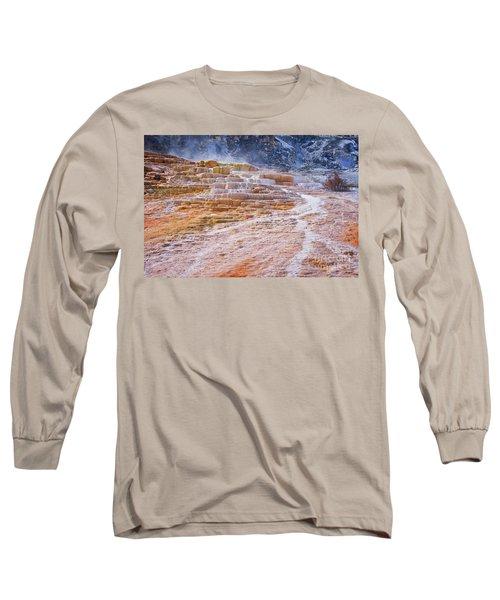 Mammoth Terraces Of Yellowstone Long Sleeve T-Shirt
