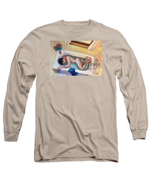 Man In Bathtub #3 Long Sleeve T-Shirt
