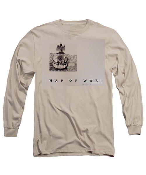Man Of War Long Sleeve T-Shirt by Susan Williams