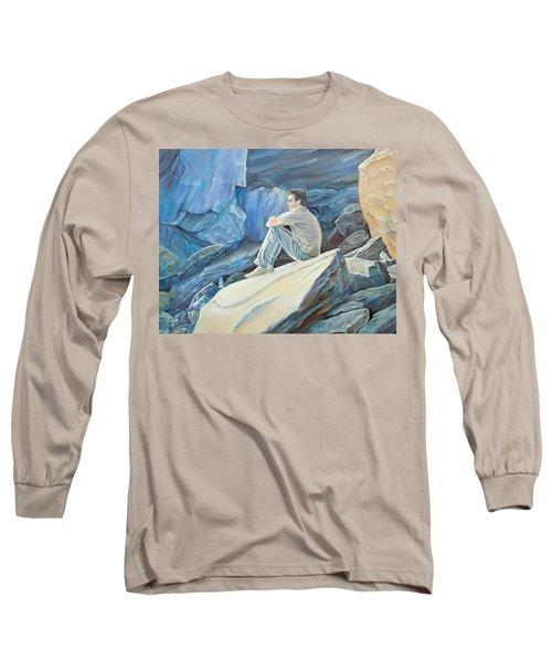 Man On The Rocks Long Sleeve T-Shirt
