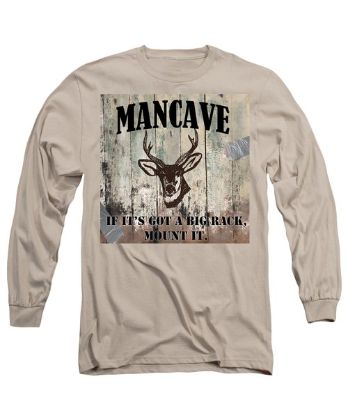 Mancave Deer Rack Long Sleeve T-Shirt