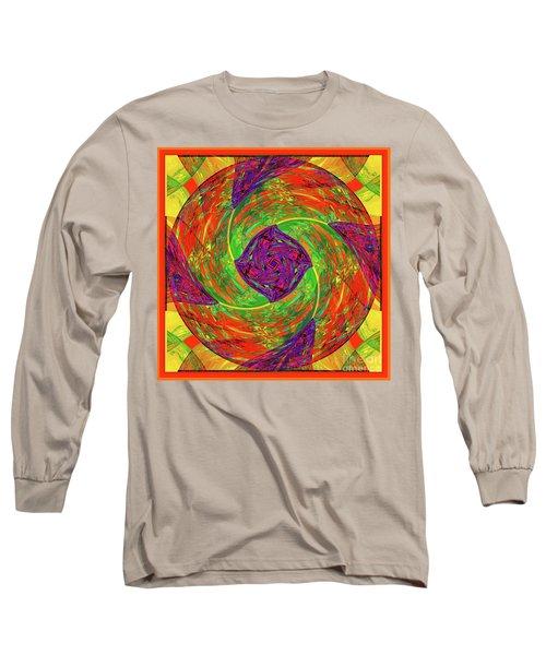 Mandala #55 Long Sleeve T-Shirt by Loko Suederdiek