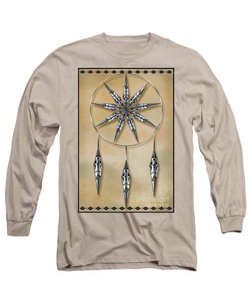 Mandala In Silver Long Sleeve T-Shirt