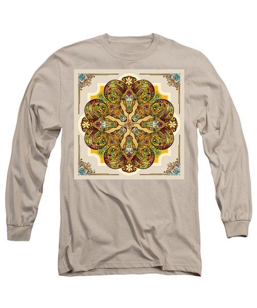 Mandala Sacred Rams - Bright Version Long Sleeve T-Shirt