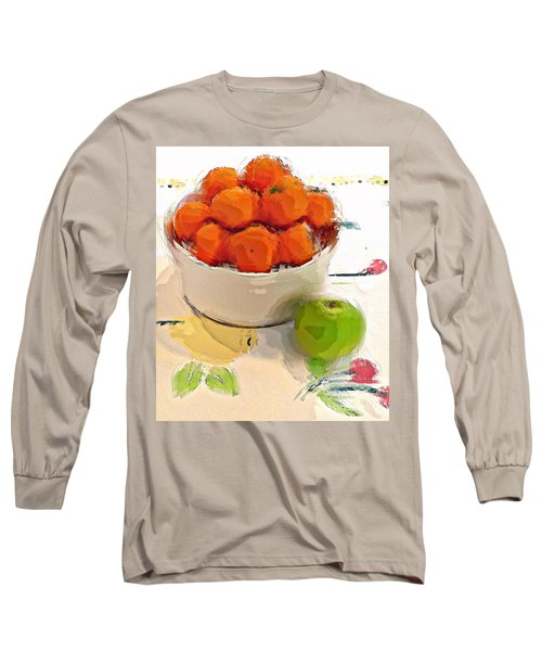 Mandarin With Apple Long Sleeve T-Shirt by Alexis Rotella