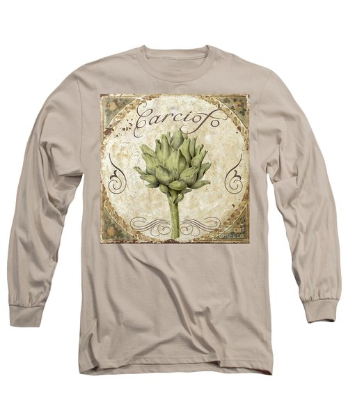Mangia Carciofo Artichoke Long Sleeve T-Shirt by Mindy Sommers