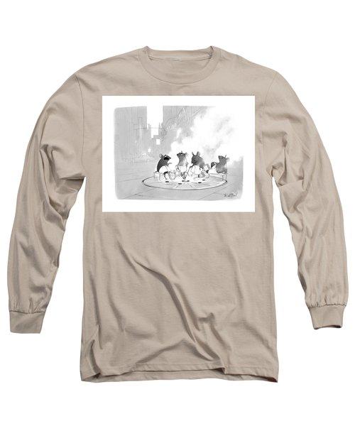 Manhole Sauna Long Sleeve T-Shirt