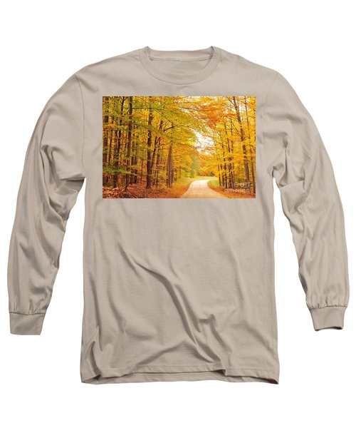 Manisee National Forest In Autumn Long Sleeve T-Shirt