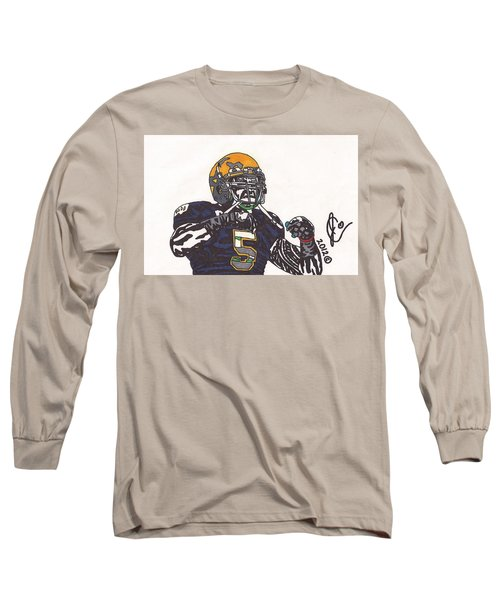Manti Te'o 1 Long Sleeve T-Shirt by Jeremiah Colley
