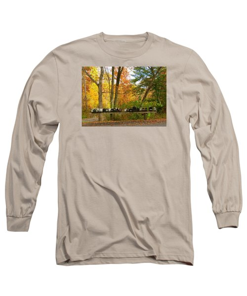 Many Shapes And Sizes Long Sleeve T-Shirt by Jeanette Oberholtzer