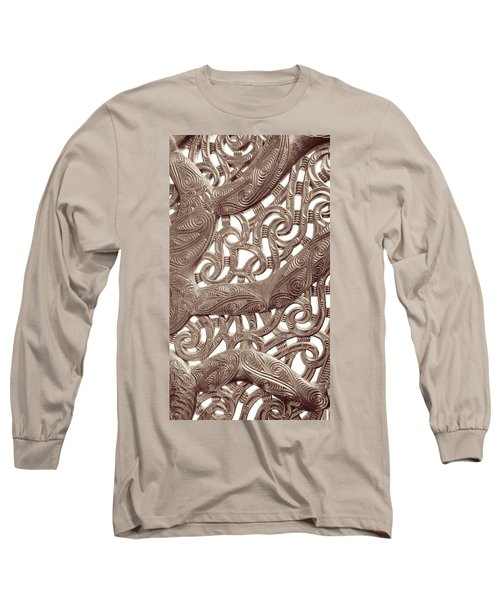 Maori Abstract Long Sleeve T-Shirt