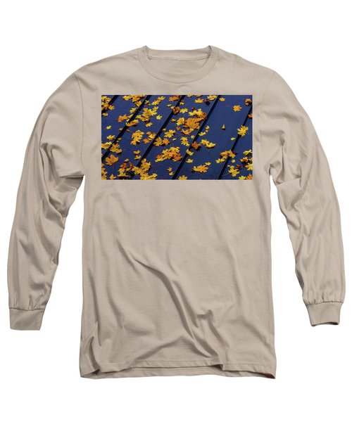 Maple Leaves On A Metal Roof Long Sleeve T-Shirt