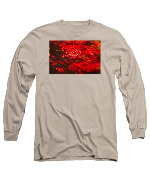 Maple Red Abstract Long Sleeve T-Shirt