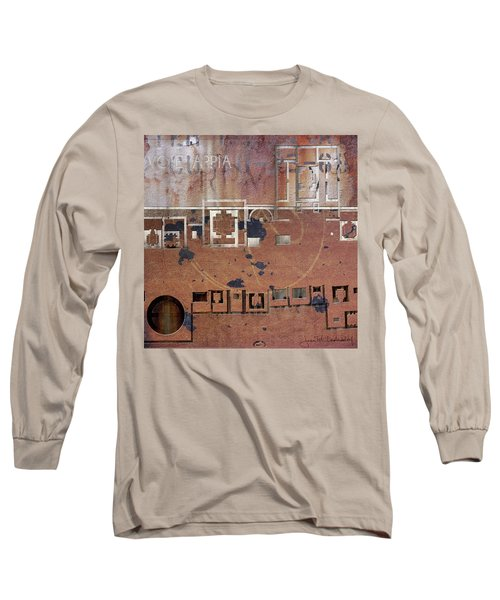 Maps #19 Long Sleeve T-Shirt by Joan Ladendorf