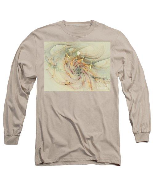 Marble Spiral Colors Long Sleeve T-Shirt by Deborah Benoit