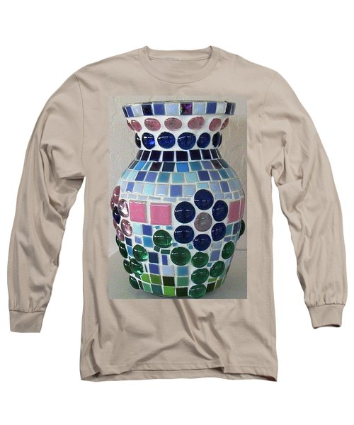Long Sleeve T-Shirt featuring the glass art Marble Vase by Jamie Frier