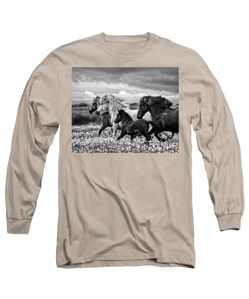 March Of The Mares Long Sleeve T-Shirt