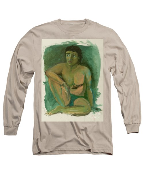 Long Sleeve T-Shirt featuring the drawing Marco by Paul McKey