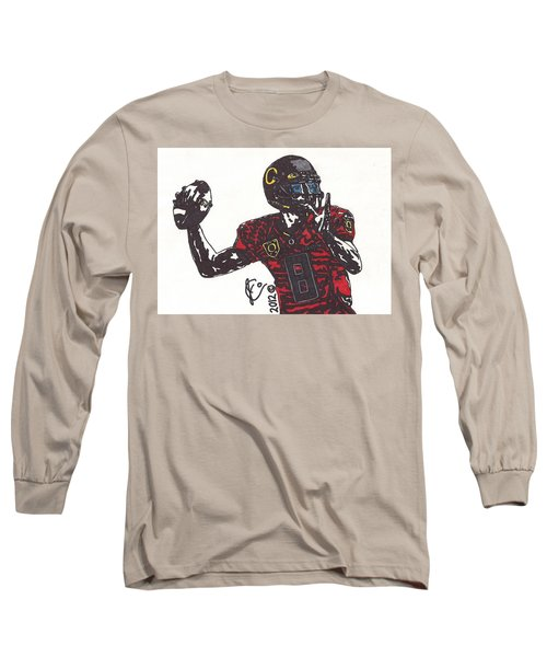 Marcus Mariota 1 Long Sleeve T-Shirt by Jeremiah Colley