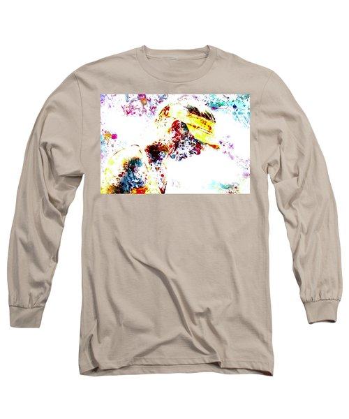 Maria Sharapova Paint Splatter 4p                 Long Sleeve T-Shirt by Brian Reaves