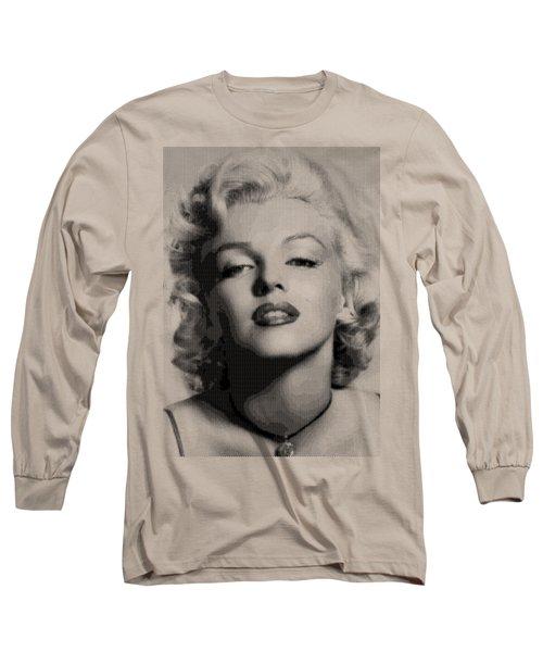 Marilyn Monroe - Bw Hexagons Long Sleeve T-Shirt