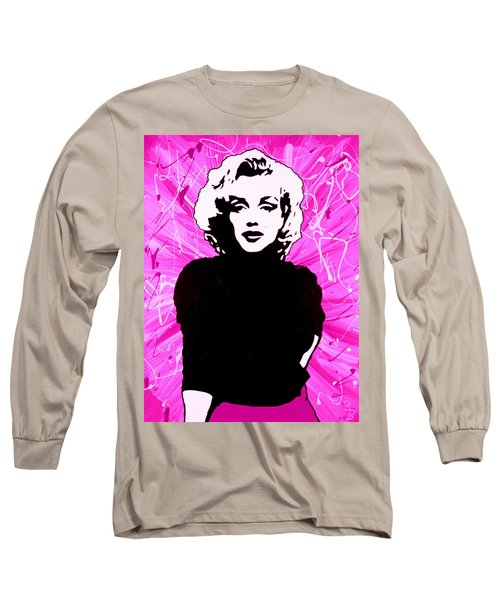 Marilyn Monroe In Hot Pink Long Sleeve T-Shirt