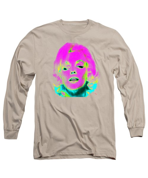 Marilyn Monroe In Psychedelic Color Long Sleeve T-Shirt by Kim Gauge