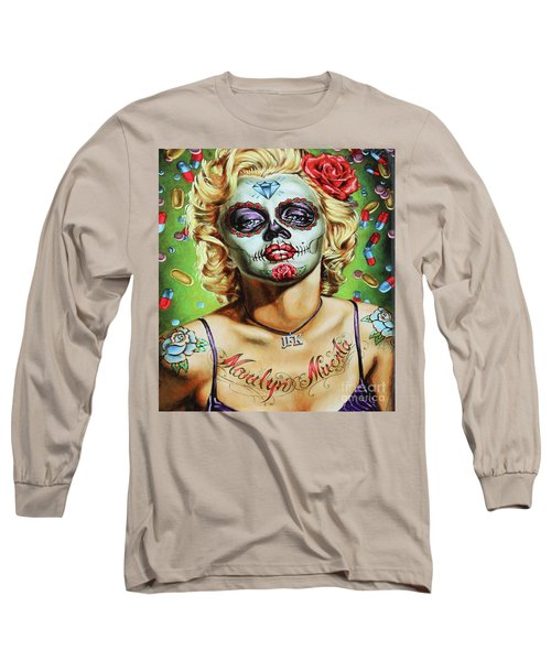 Marilyn Monroe Jfk Day Of The Dead  Long Sleeve T-Shirt