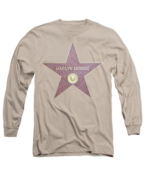 Marilyn Monroe Star From Walk Of Fame Long Sleeve T-Shirt