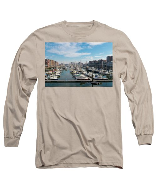 Marina In The Netherlands Long Sleeve T-Shirt by Hans Engbers