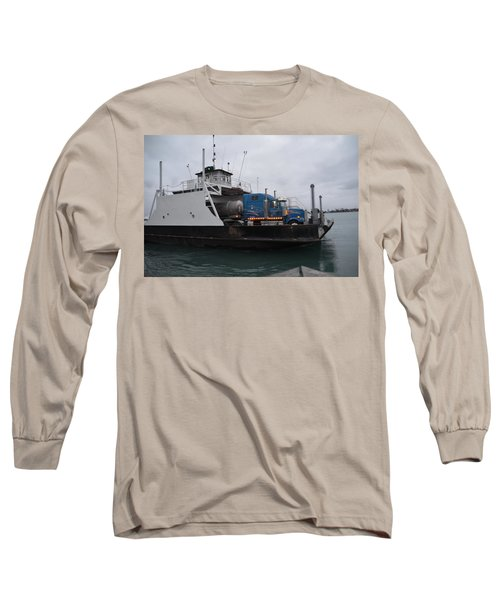 Marine City Mich Car Truck Ferry Long Sleeve T-Shirt by Randy J Heath