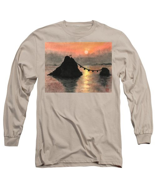 Married Couple Rocks At Sunset Long Sleeve T-Shirt