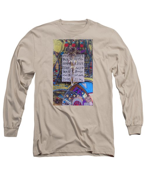 Long Sleeve T-Shirt featuring the painting Marshmallow Herbal Tincture by Clarity Artists