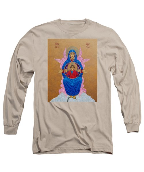 Mary Mother Of Mercy Icon - Jubilee Year Of Mercy Long Sleeve T-Shirt by Michele Myers