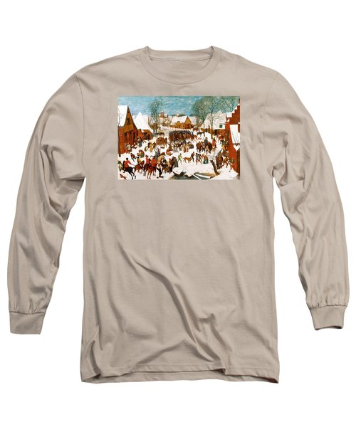 Massacre Of The Innocents Long Sleeve T-Shirt by Pieter Bruegel the Elder