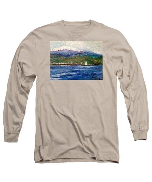 Mauna Kea At Hilo Bay Long Sleeve T-Shirt