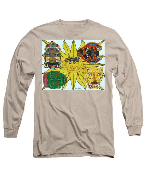 May  Aztec Masks Long Sleeve T-Shirt
