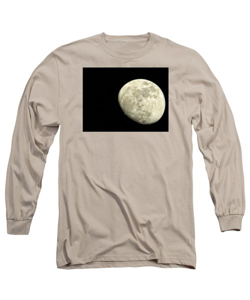 Long Sleeve T-Shirt featuring the photograph Me And The Moon Tonight by Nikki McInnes