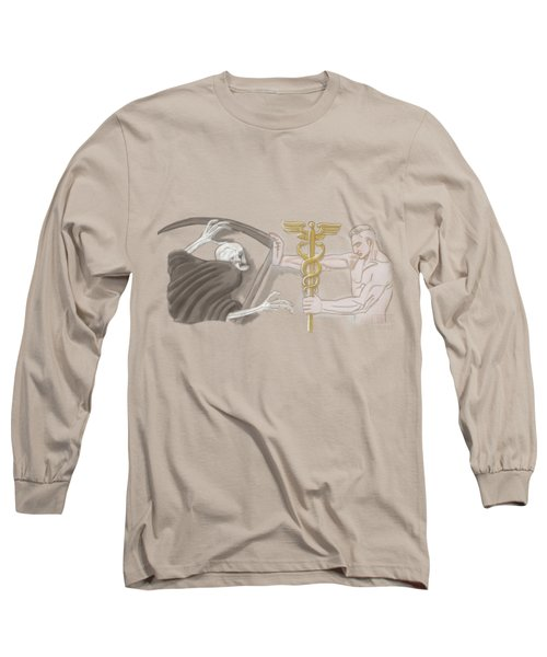 Long Sleeve T-Shirt featuring the mixed media Medic by TortureLord Art