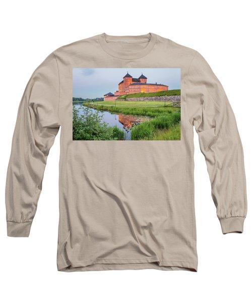 Medieval Castle Long Sleeve T-Shirt by Teemu Tretjakov