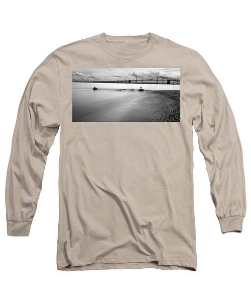 Meditating Sea Gull Long Sleeve T-Shirt
